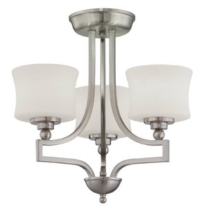 Ellerman 3-Light Semi Flush Mo..