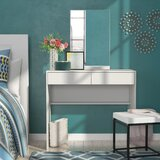 Heathcote 2 Drawer Vanity with Mirror by Ebern Designs