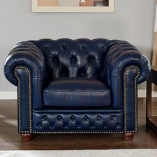 Corbett Leather Club Chair by 17 Stories