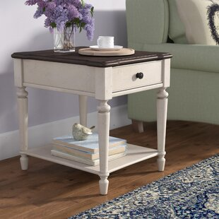 Lark Manor Ornithogale Rectangular End Table