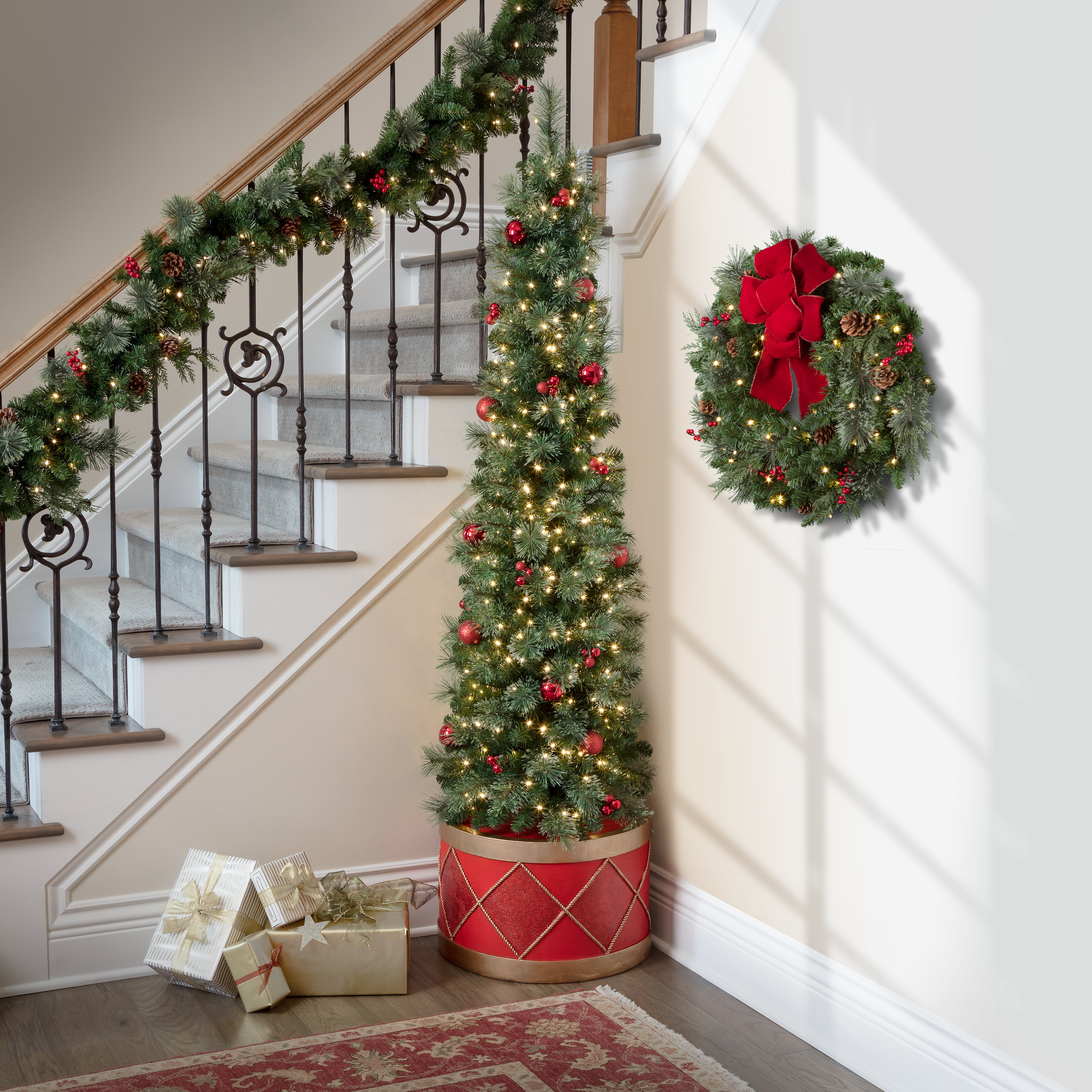 Cost Of Christmas Trees 2020 In Vero Beach Fl Haute Decor Calgary Drum 6.7' Green Spruce Artificial Christmas
