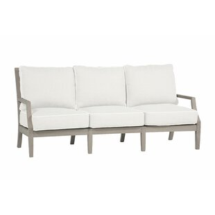Haley Teak Patio Sofa with Cushions by Summer Classics