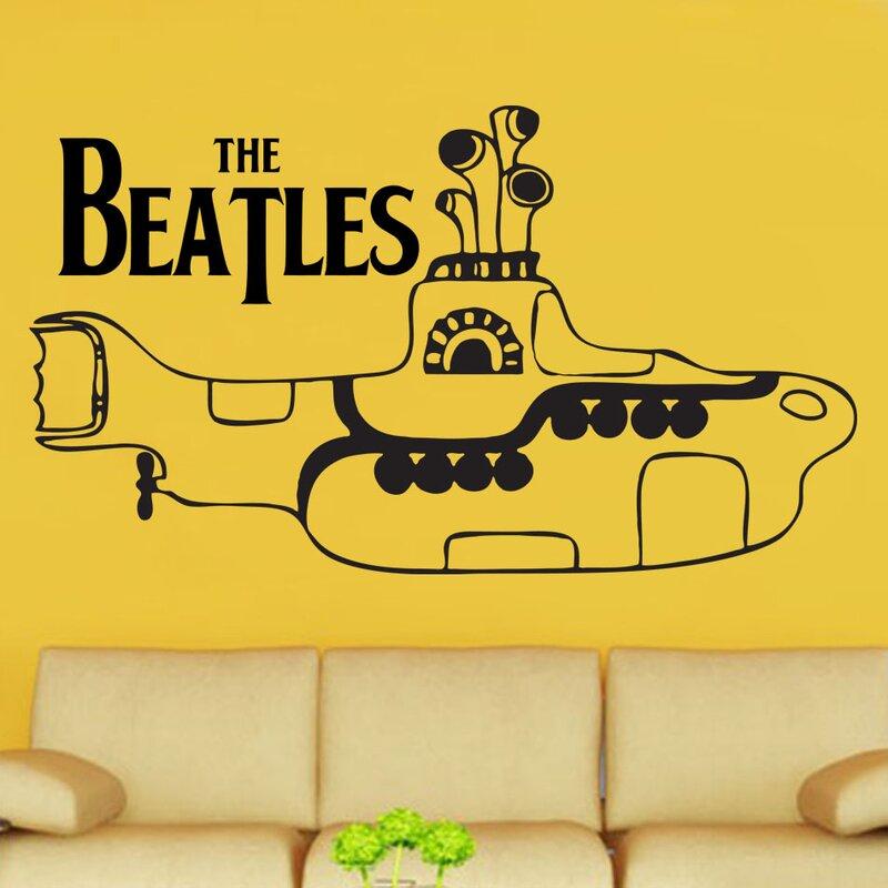 Kult Kanvas The Beatles Yellow Submarine Decal Vinyl Wall Sticker ...