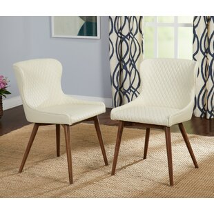 West Line Upholstered Dining Chair (Set of 2) George Oliver