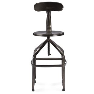 Raci Adjustable Height Bar Stool by 17 Stories