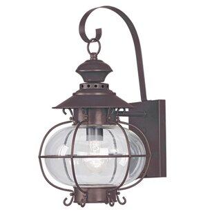 Longshore Tides Shielo 1-Light Outdoor Wall Lantern