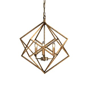 Chandeliers modern contemporary designs allmodern ojas geometric 3 light candle style chandelier mozeypictures Gallery