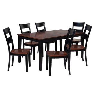 Boswell 7 Piece Solid Wood Dining Set by TTP Furnish