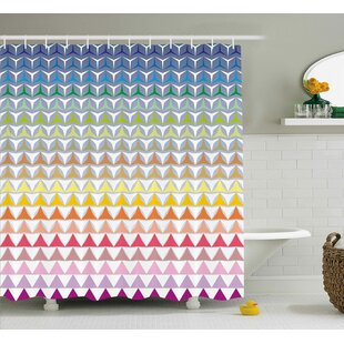 Hope Trippy Geometric Forms Print Single Shower Curtain