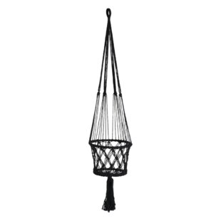 Macramé Natural Fibre Hanging Basket By World Menagerie