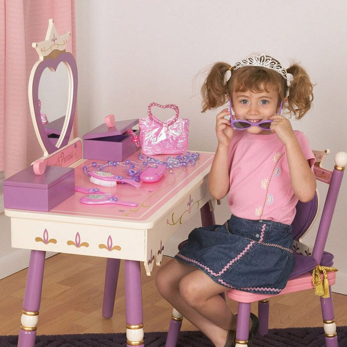 Wildkin Princess Vanity Set With Mirror Reviews Wayfair