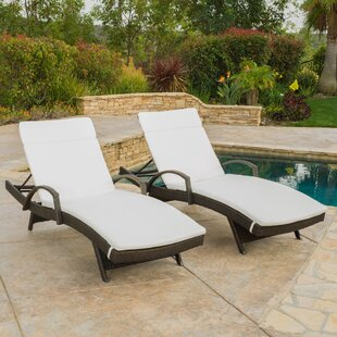 Darby Home Co Peyton Chaise Lounge with Cushion (Set of 2)