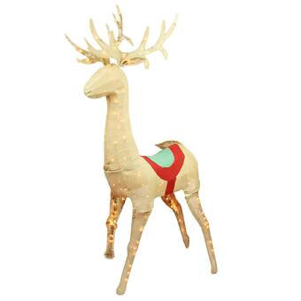 Northlight Pre Lit Commercial Grade Acrylic Reindeer Christmas Lighted Display Wayfair