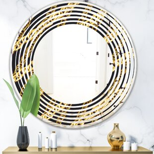 Zigzag Chain Wave Glam Frameless Wall Mirror