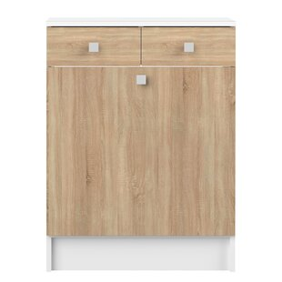 Elick 60 X 81.5cm Free Standing Cabinet With Laundry Basket By Mercury Row