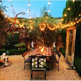 20-Light Globe String Lights By String Light Company Outdoor Lighting