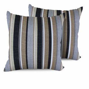 Stripe Indoor/Outdoor Throw Pillow (Set of 2)