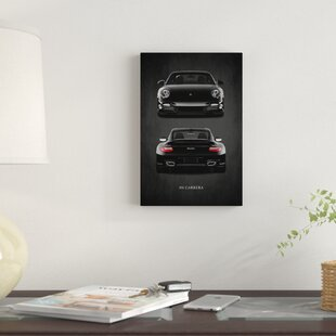 'Porsche 911 Carrera Turbo' Graphic Art Print on Canvas By East Urban Home