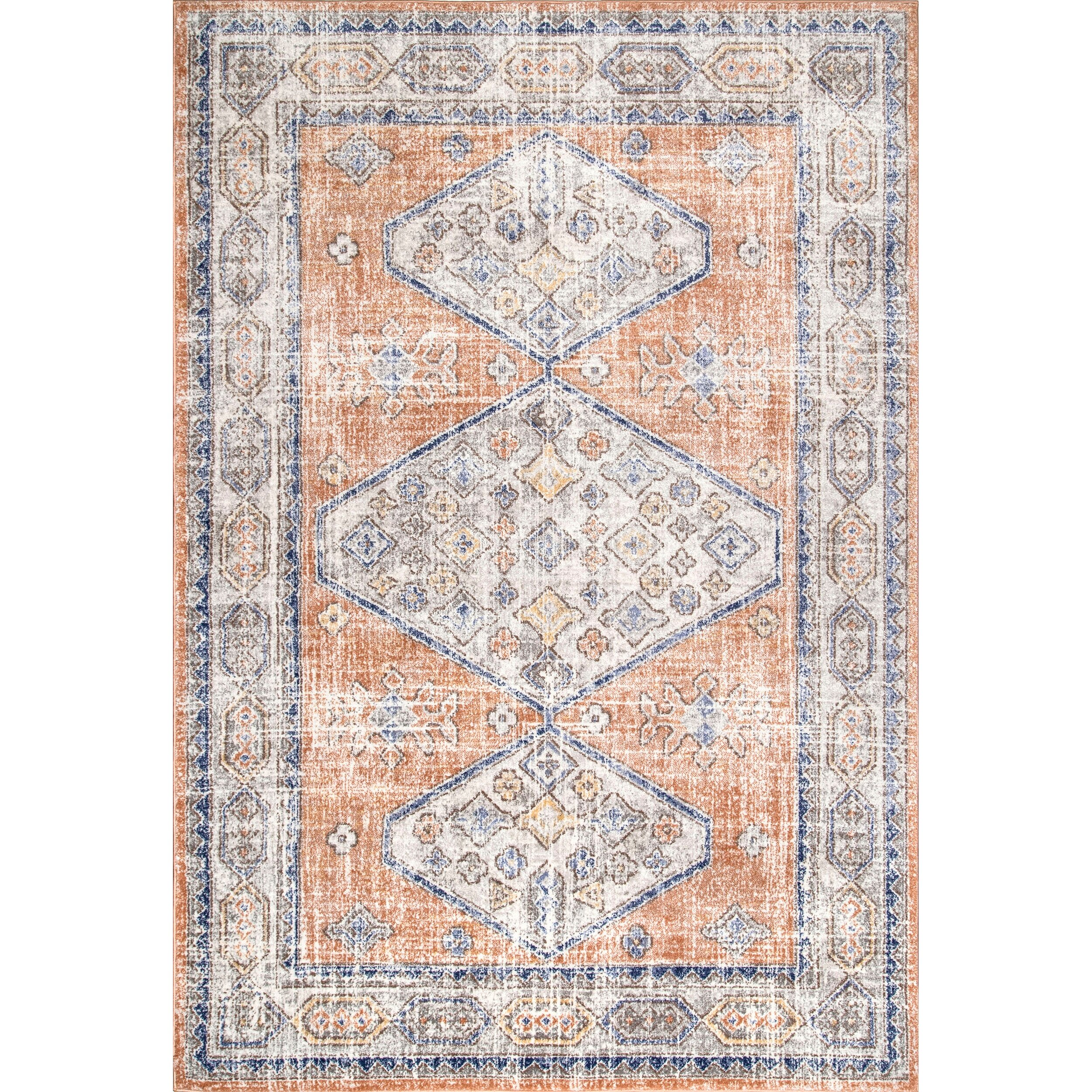 Bungalow Rose Brionna Orange Area Rug Wayfair