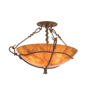Kalco Vine 3-Light Semi Flush Mount