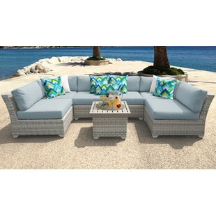 Fairmont 7 Piece Patio Sectional Seating Group with Cushions