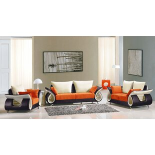 Orren Ellis Boltz 3 Piece Living Room Set