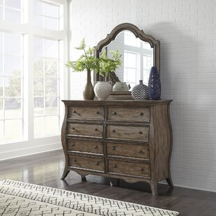 Toni 8 Drawer Dresser with Mirror