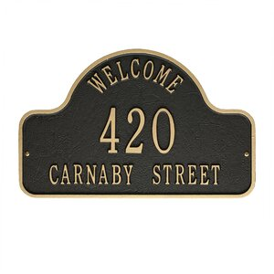 3-Line Wall Address Plaque