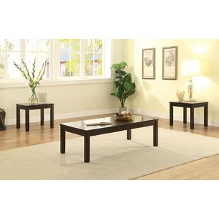 Red Barrel Studio Kavet-Guyton Wooden 3 Piece Coffee Table Set
