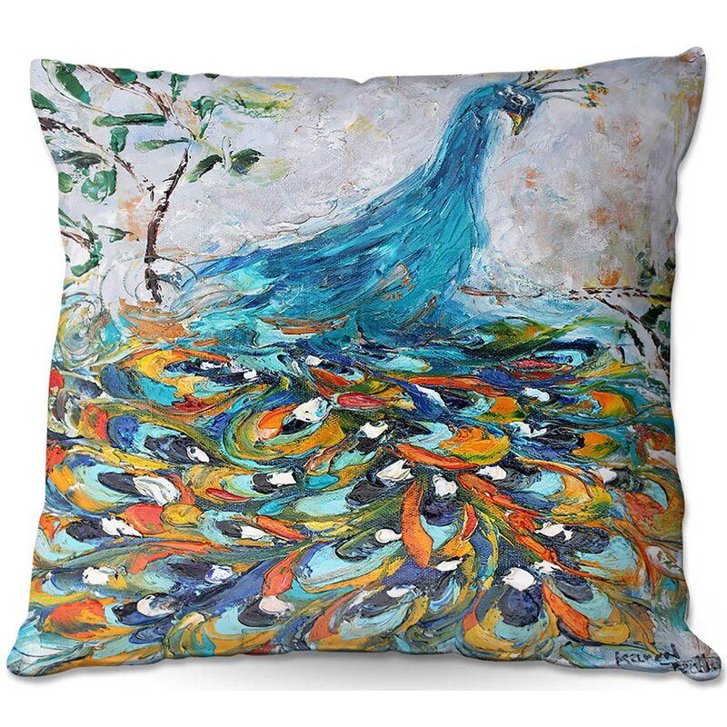 World Menagerie Drasner Couch Fabulous Peacock Square Pillow Cover Insert Reviews Wayfair