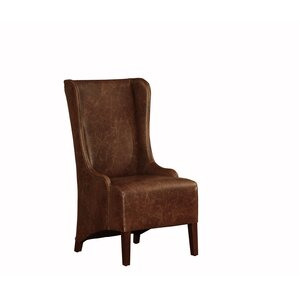 Genuine Leather Upholstered Dining Chair by Lazzaro Leather