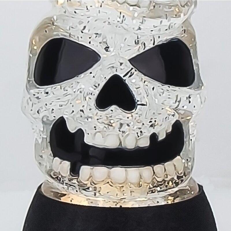 The Holiday Aisle Led Halloween Triple Skulls Stack Tower Snow Globe Wayfair