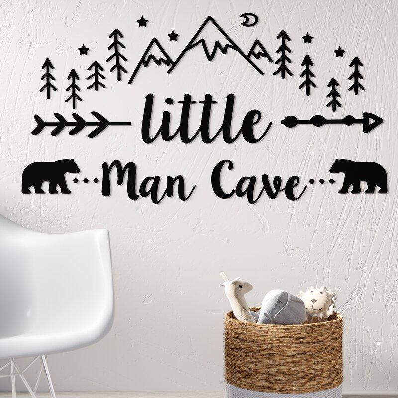 cute childrens bedroom wall art vinyl decal sticker fun Little man cave
