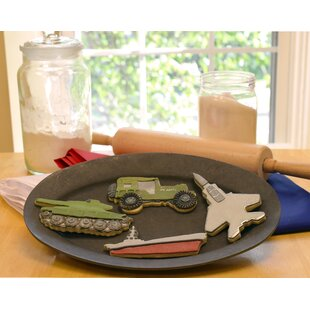 Military 4 Piece Vehicle Cookie Cutter Set