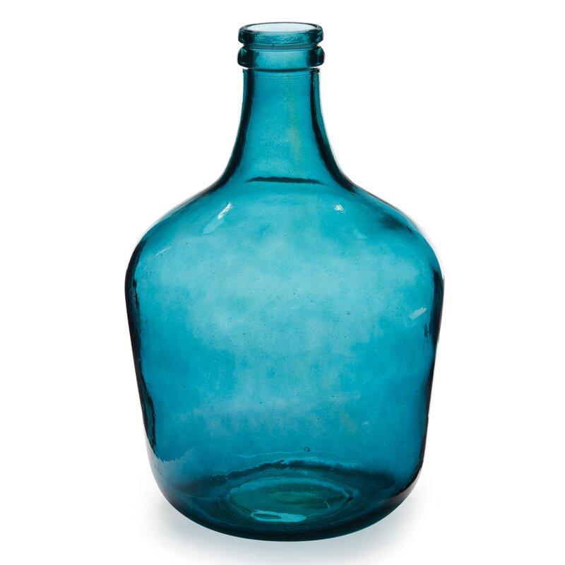 Parisian Bottle Glass Table Vase Reviews Allmodern