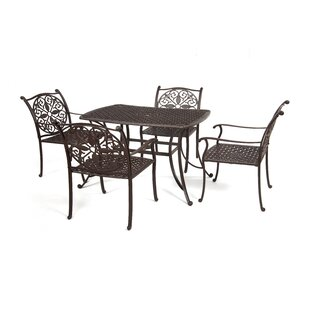 Hereford Cast Aluminum 5 Piece Dining Set..