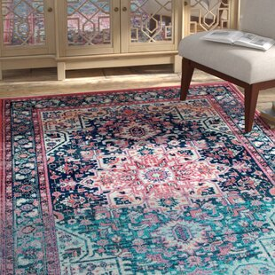 Ardencroft Pink/Blue Area Rug by Bungalow Rose