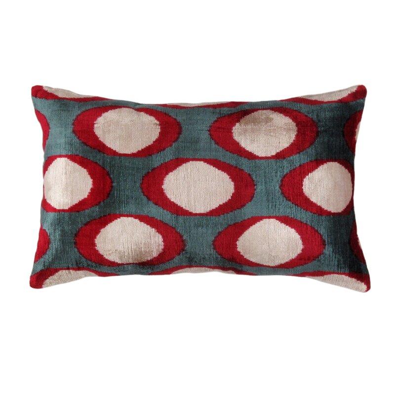 16 x 16 Silk velvet ikat pillow cover double side ikat cushion Lumbar decorative pillows handmade velvet ikat pillow