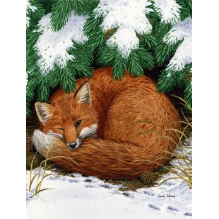 Fox Nap Time 2-Sided Garden Flag by Caroline's Treasures