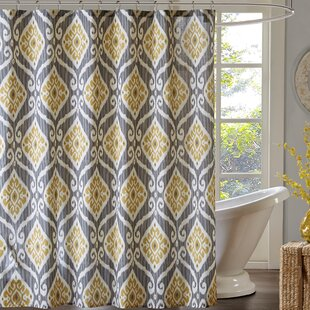 Alexander Printed Single Shower Curtain by Bungalow Rose