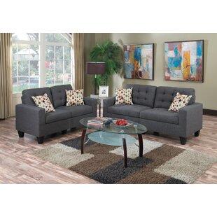 Ebern Designs Blythdale 2 Piece Living Room Set