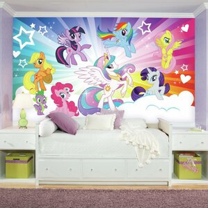 Prepasted My Little Pony Cloud XL Chair Rail Ultra Strippable Wall Mural