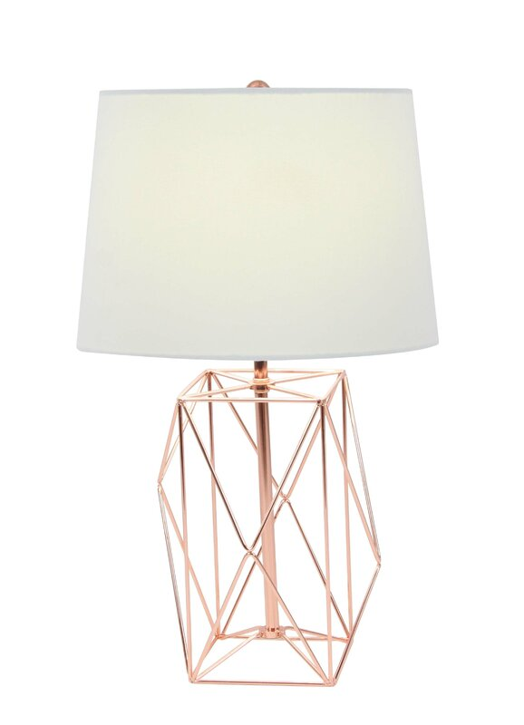 Metal wire 21 table lamp reviews allmodern metal wire 21 table lamp mozeypictures Images