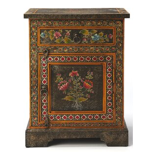 Stell Hand Painted 1 Door Accent Cabinet by Bloomsbury Market