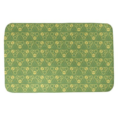 Circles Waves Rectangle Non Slip Geometric Bath Rug Brayden Studioâ Size 17 W X 24 L Color Green Yellow Sportspyder