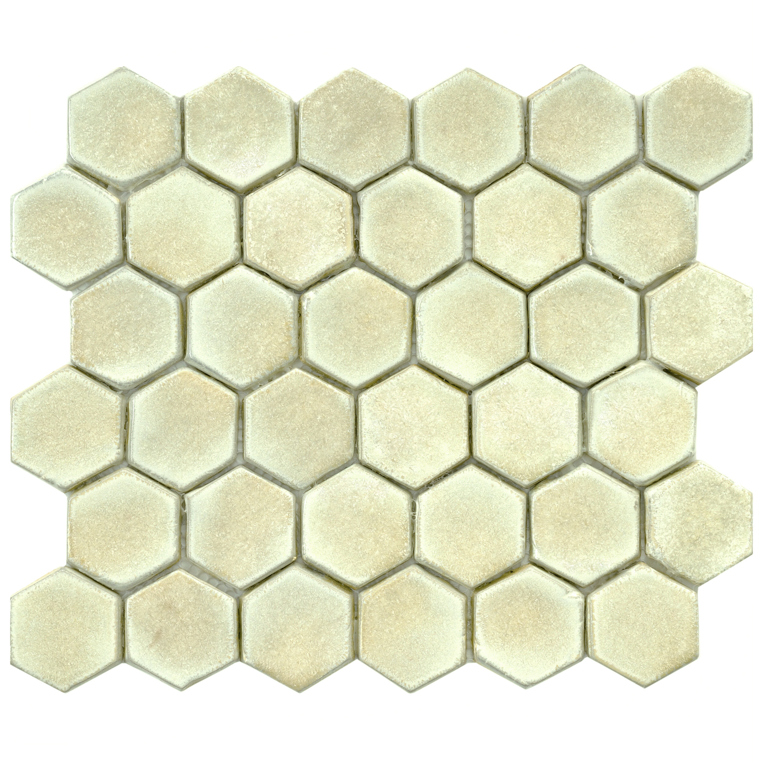 Elitetile greenwich hex 188 x 188 ceramic mosaic tile in off elitetile greenwich hex 188 x 188 ceramic mosaic tile in off white wayfair dailygadgetfo Gallery