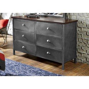 Berthold 6 Drawer Double Dresser by Alcott Hill