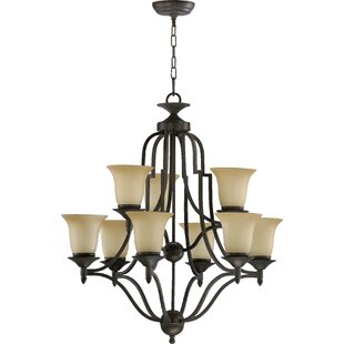 Charlton Home Hertz 9-Light Shaded Chandelier