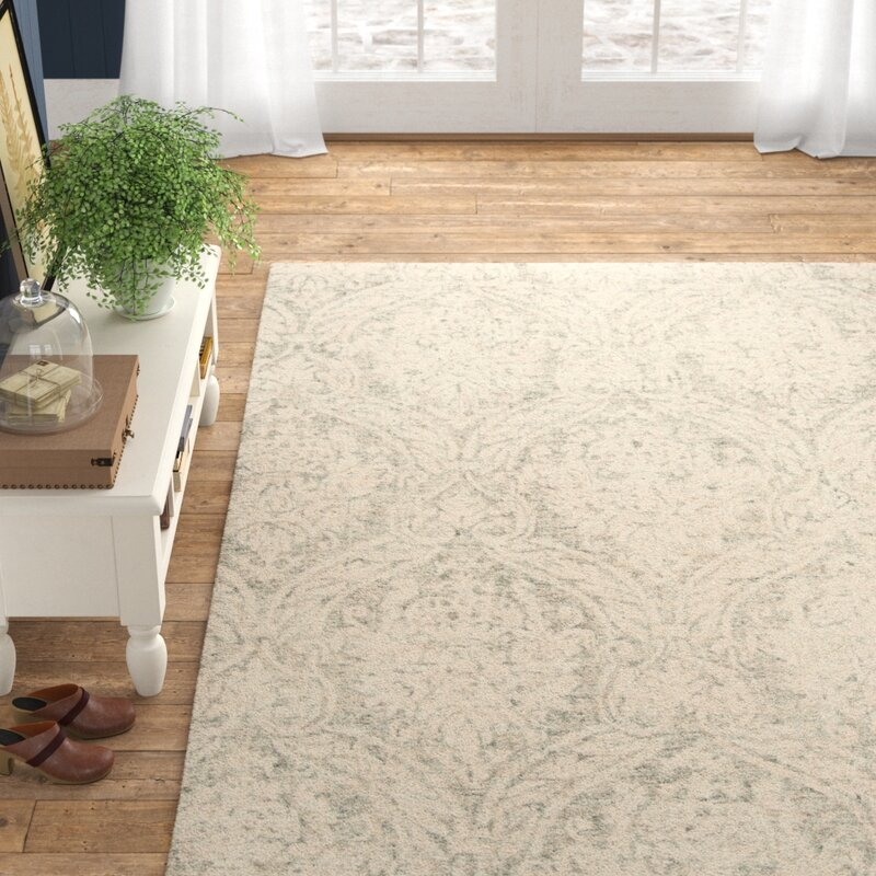 Healy Abstract Handmade Tufted Wool Gray Ivory Area Rug Reviews Birch Lane