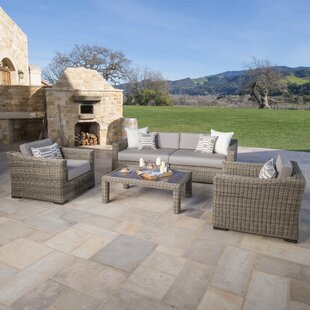 Monroeville 5 piece Sunbrella Sofa Set with Cushions by Darby Home Co